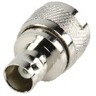 Antennenadapter PL259 male - BNC-Kupplung Silber