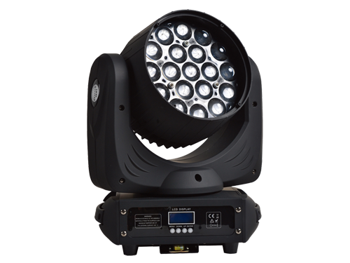 Wash led moving head with 19 RGBW 12w Leds RGBW and 10-50 zoom