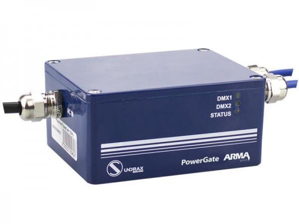 SUNDRAX DMX via POWERLINE PowerGate ARMA 1 DMX output