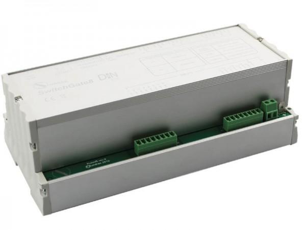 SUNDRAX DMX Switchers SwitchGate DIN 8 relays, 16 control points, 1 DMX input/output