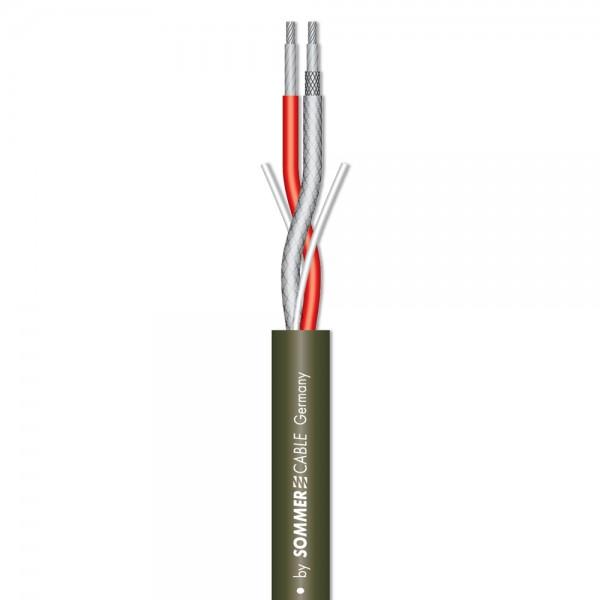 Instrumentenkabel Colonel Incredible; 2 x 0,35 mm²; PVC Ø 7,20 mm; olivgrün