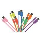 USB 2.0 Kabel USB A male - Micro-B male flach 1.00 m Grün