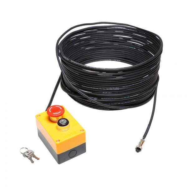 Cameo EKS 20 M - Not-Aus mit Schlüsselverriegelung und 20 m Kabel