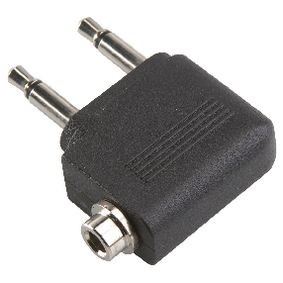 Stereo-Audio-Adapter 90° abgewinkelt 2x 3.5 mm male - 3.5 mm female Schwarz