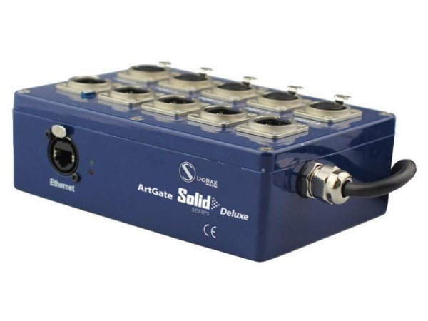 SUNDRAX Ethernet Converter ArtGate Solid Deluxe 4 DMX inputs/outputs (5-pin), 1 Splitter port, 1 Eth