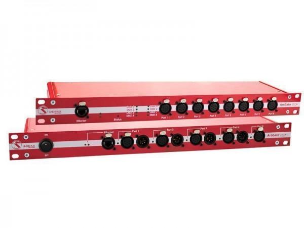 SUNDRAX Ethernet Converter ArtGate Pro 8 DMX inputs/outputs (3-pin), 1 Ethernet port