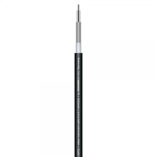 RG59 & Phono SC-AQUA MARINEX VIDEO 0.6L/3.7; 1 x 0,60/3,30; PUR-SR Ø 6,40 mm; schwarz