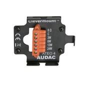 Audac ATEO 4 B - 2-Wege Lautsprecher mit Clevermount schwarz