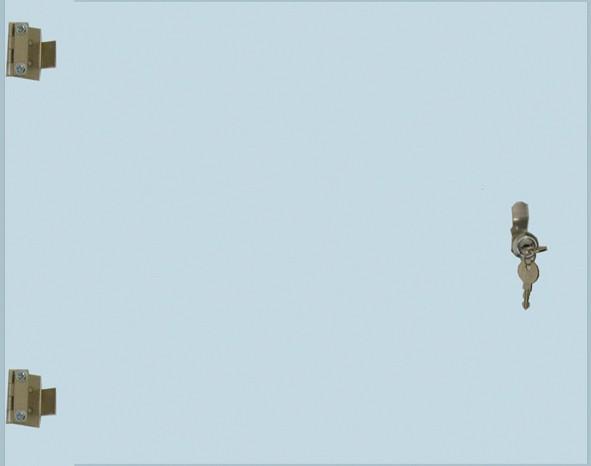 StahlRack 8HE ECHTglas-Türe mit Schluss