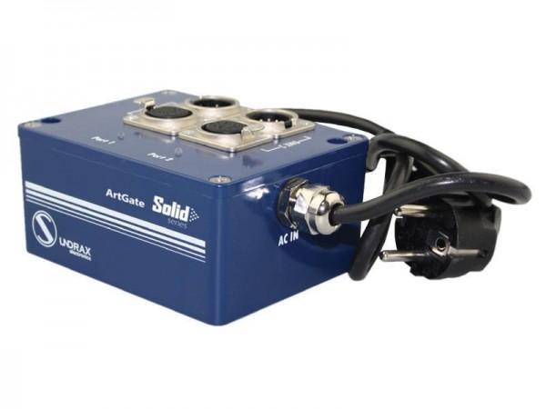 SUNDRAX Ethernet Converter ArtGate Solid 2 DMX inputs/outputs (3-pin), 1 Ethernet port