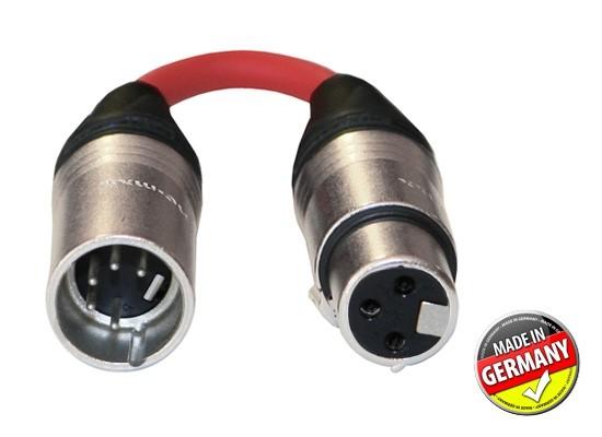 DMX Adapter 3-pol XLR female / 5-pol XLR male